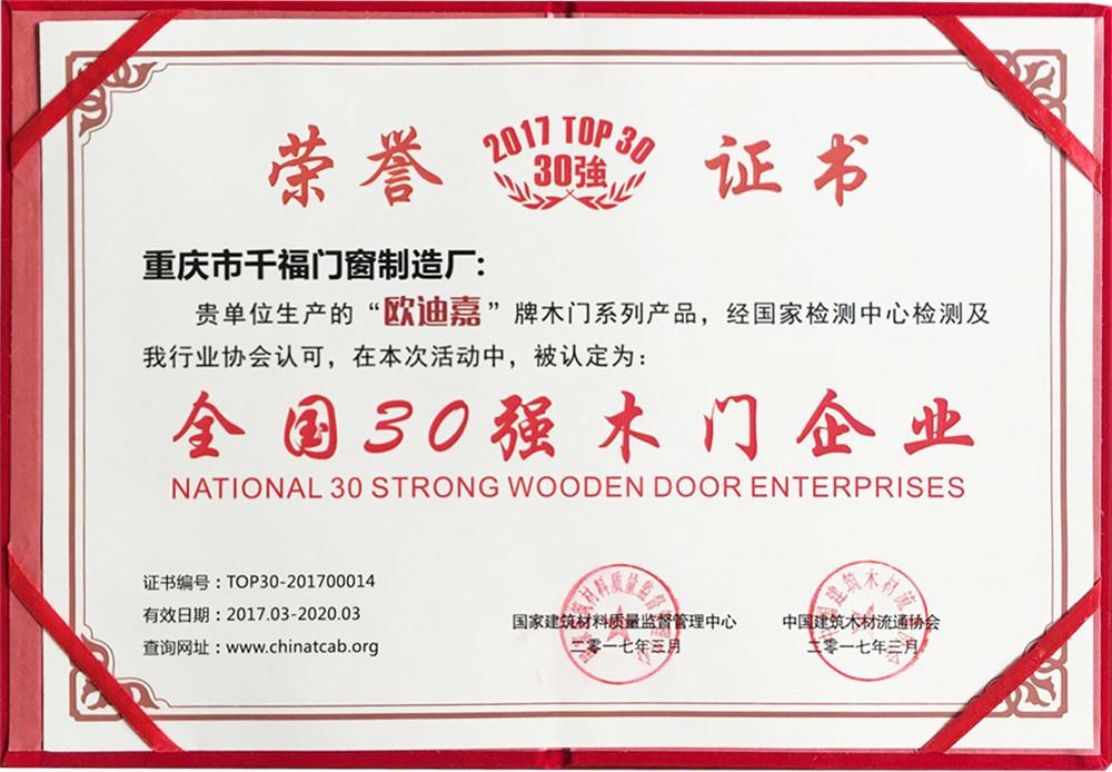 全国30强木门企业